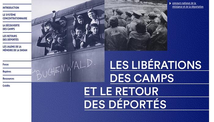 Page d'accueil mini-site Les libérations des camps et le retour des déportés
